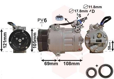 Original OPEL Kompressor Klimaanlage 3700K438