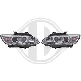 LED Angel Eyes Scheinwerfer für BMW E92 Coupe E93 Cabrio chrom XENON ohne AFS
