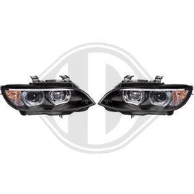 LED Angel Eyes Scheinwerfer für BMW E92 Coupe E93 Cabrio schwarz XENON ohne AFS