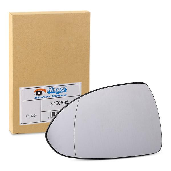 Buy Rear view mirror glass VAN WEZEL 3750835