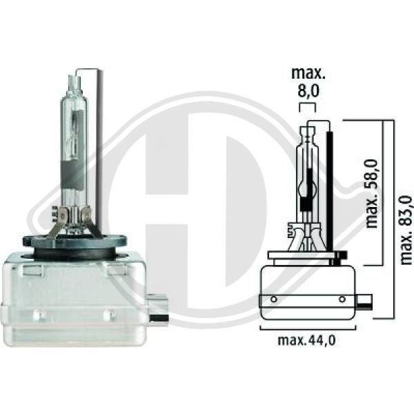 LID10003 DIEDERICHS Glühlampe, Fernscheinwerfer für IVECO online bestellen