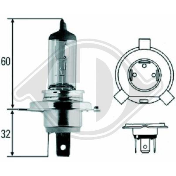LID10009 DIEDERICHS Glühlampe, Fernscheinwerfer für IVECO online bestellen