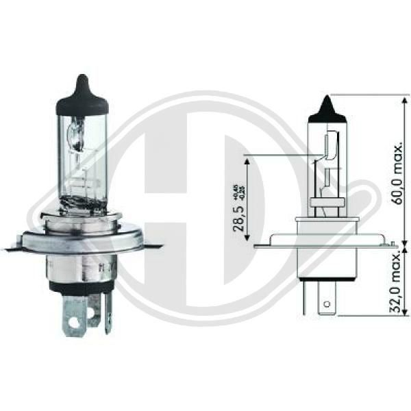 LID10010 DIEDERICHS Glühlampe, Fernscheinwerfer für IVECO online bestellen