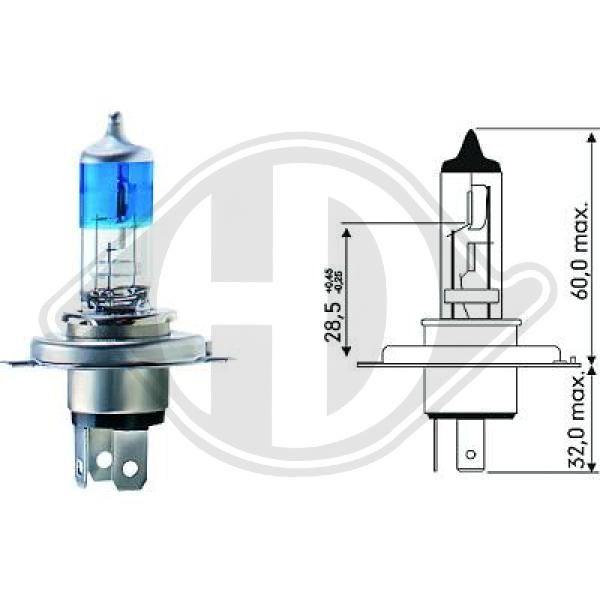 LID10011 DIEDERICHS Glühlampe, Fernscheinwerfer für MERCEDES-BENZ online bestellen