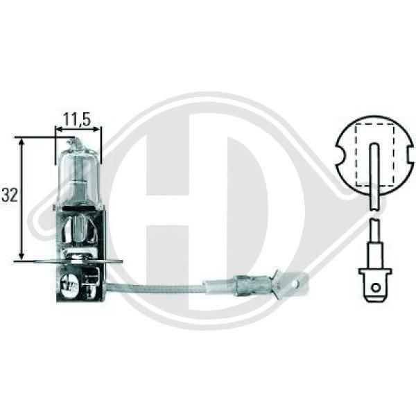 LID10015 DIEDERICHS Glühlampe, Fernscheinwerfer für IVECO online bestellen