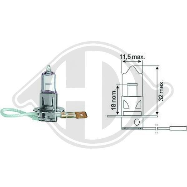 LID10016 DIEDERICHS Glühlampe, Fernscheinwerfer für IVECO online bestellen