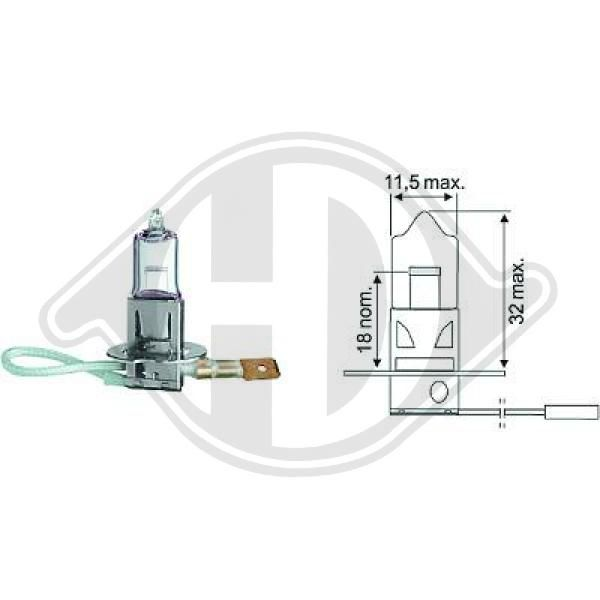 LID10016 DIEDERICHS Glühlampe, Fernscheinwerfer billiger online kaufen