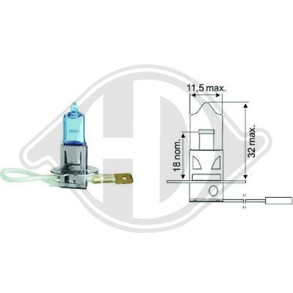 LID10017 DIEDERICHS Glühlampe, Fernscheinwerfer für MAN online bestellen