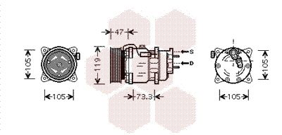 VAN WEZEL Klimakompressor 4000K242