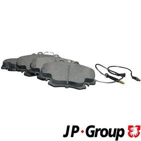 4163603119 JP GROUP Vorderachse, inkl. Verschleißwarnkontakt Dicke/Stärke: 18,2mm Bremsbelagsatz, Scheibenbremse 4163603110 günstig kaufen