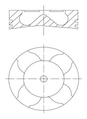 MAHLE ORIGINAL: Original Kolben 007 PI 00163 000 ()