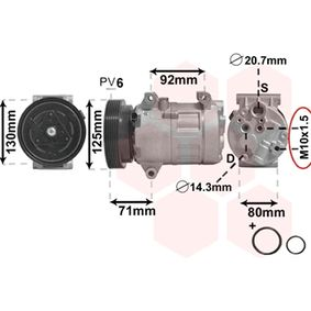 4300K103 Klimakompressor VAN WEZEL 4300K103 - Große Auswahl - stark reduziert
