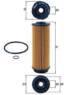 Ölfilter MAHLE ORIGINAL OX 1146D