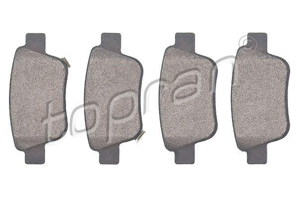 23622 TOPRAN Hinterachse, mit akustischer Verschleißwarnung, mit E-Prüfzeichen, mit Montageanleitung, mit Zubehör Dicke/Stärke 1: 16,5mm Bremsbelagsatz, Scheibenbremse 600 597 günstig kaufen