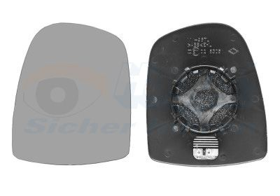 Außenspiegelglas Renault Trafic II Pritsche links und rechts 2018 - VAN WEZEL 4394837 ()