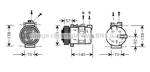 Original LAND ROVER Kompressor AUAK056