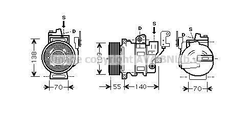Original LAND ROVER Kompressor Klimaanlage AUAK187