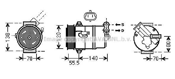 Kompressor Klimaanlage PRASCO OLAK498