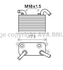 PRASCO Ölkühler, Automatikgetriebe VN3310