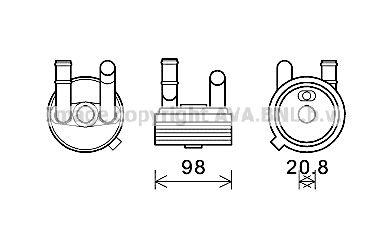 Getriebe Ölkühler Polo 9n 2005 - PRASCO VN3396 ()