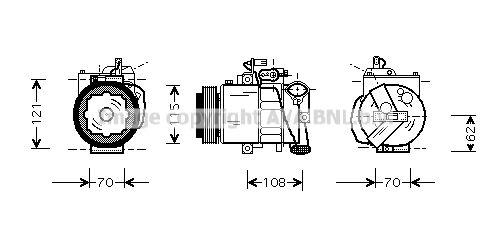 Original SEAT Klimakompressor VNAK064