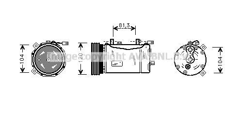 Original FORD Kompressor VNAK172