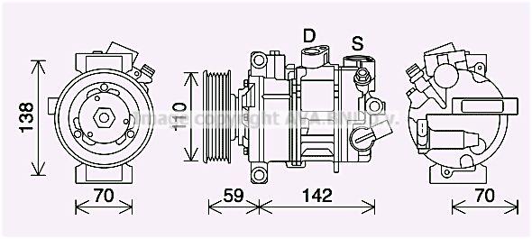 OE Original Kompressor VNAK401 PRASCO