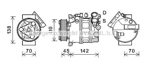 PRASCO Klimakompressor VOAK192
