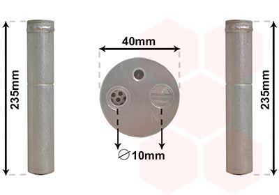 VAN WEZEL Filtre déshydratant, climatisation 5300D017