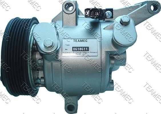 DKV09Z TEAMEC PAG 100 Riemenscheiben-Ø: 110mm Klimakompressor 8610611 günstig kaufen