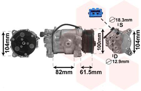 Original SEAT Kompressor Klimaanlage 5800K167