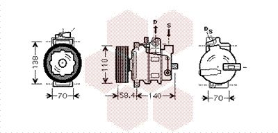 Original VW Kompressor Klimaanlage 5800K265