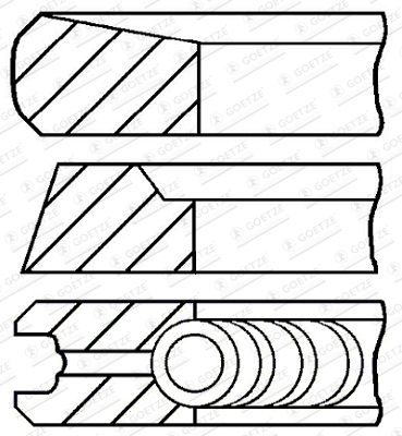 GOETZE ENGINE Piston Ring Kit for NISSAN - item number: 08-422805-00