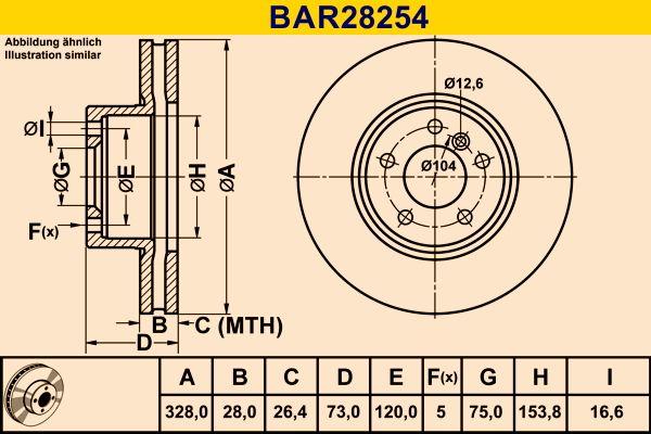 Комплект спирачни дискове BAR28254 Barum — само нови детайли