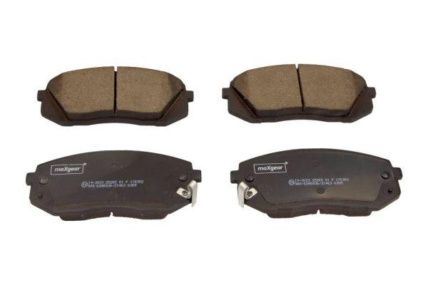 19-3023 MAXGEAR Vorderachse, mit akustischer Verschleißwarnung Höhe: 60,9mm, Breite: 137,9mm, Dicke/Stärke: 17,5mm Bremsbelagsatz, Scheibenbremse 19-3023 günstig kaufen