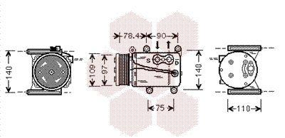 Original JAGUAR Kompressor Klimaanlage 7700K034