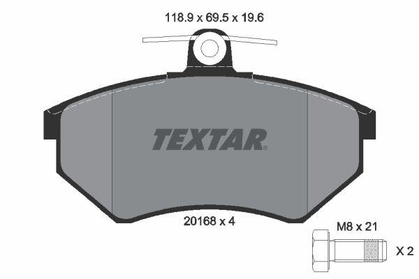 Bremsbelagsatz TEXTAR 2016804