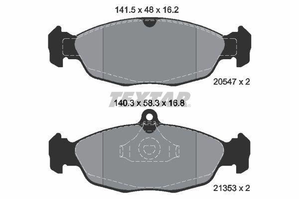 Bremsklötze 2054701 Opel CORSA 1998