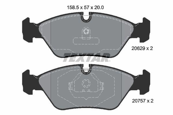 2062902 TEXTAR Bremsbelagsatz, Scheibenbremse Bewertung