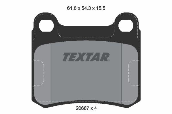 TEXTAR Bremsbelagsatz, Scheibenbremse 2068701