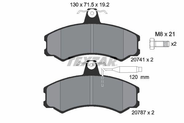 Bremsbelagsatz, Scheibenbremse 2074101 günstige Preise - Jetzt kaufen!