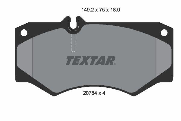 MERCEDES-BENZ T1 1994 Scheibenbremsbeläge - Original TEXTAR 2078401 Höhe: 75mm, Breite: 149,2mm, Dicke/Stärke: 18mm