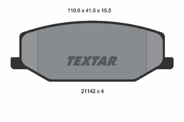 TEXTAR Bremsbelagsatz, Scheibenbremse 2114202