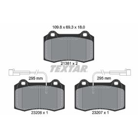 Brake Pad Set, disc brake 2138103 for DODGE VIPER at a discount — buy now!