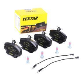 8256D1146 TEXTAR inkl. Verschleißwarnkontakt, mit Bremssattelschrauben Höhe: 64,8mm, Breite: 100,1mm, Dicke/Stärke: 18,2mm Bremsbelagsatz, Scheibenbremse 2146304 günstig kaufen