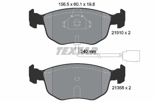 Bremsbelagsatz TEXTAR 2191003