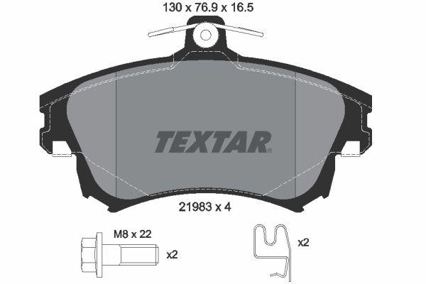 Bremssteine TEXTAR 2198304