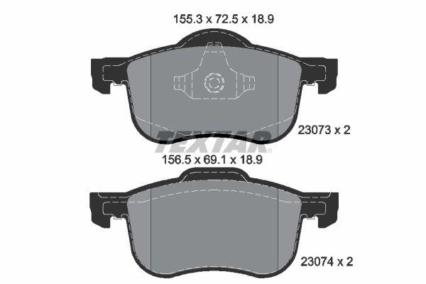 Bromsbeläggssats, skivbroms 4963600519 V70 II (SW) 2.4 140 HKR originaldelar-Erbjudanden