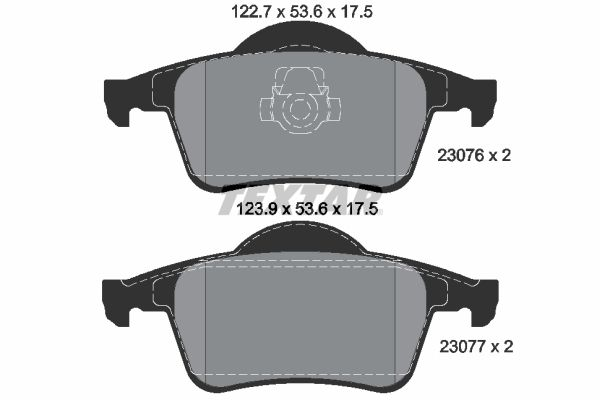 Bromsbeläggssats, skivbroms 4963700419 V70 II (SW) 2.4 140 HKR originaldelar-Erbjudanden