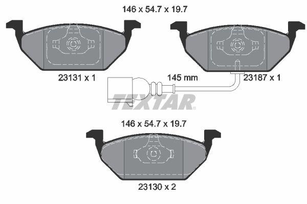 2313101 Bremssteine TEXTAR in Original Qualität